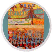 Hollywood Parade Round Beach Towel by Rodger Ellingson