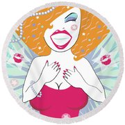 Hollywood Star Round Beach Towel