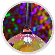 Round Beach Towel featuring the photograph Holographic Fruit Drop by Xn Tyler
