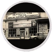 Holy City World Government Santa Clara County California 1938 Round Beach Towel