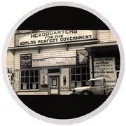 Holy City World Government Santa Clara County California 1938 Round Beach Towel
