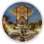 Holy Family Shrine Round Beach Towel