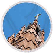 Huguenot Church Round Beach Towel