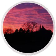 Holy Hill - Gloom To Color Round Beach Towel by Janice Adomeit