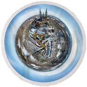 Holy Hill Little Planet Round Beach Towel