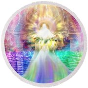 Holy Holy Holy Round Beach Towel by Dolores Develde