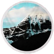 Holy Kailas East Slop Himalayas Tibet Yantra.lv Round Beach Towel