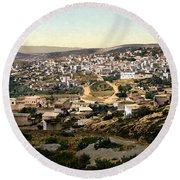 Holy Land - Nazareth Round Beach Towel by Munir Alawi