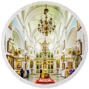 Holy Spirit Cathedral Round Beach Towel