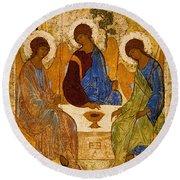 Holy Trinity. Troitsa Round Beach Towel