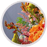 Round Beach Towel featuring the photograph Holy Week Flowers 2017 3 by Sarah Loft