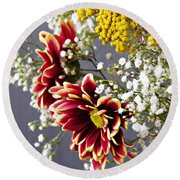 Round Beach Towel featuring the photograph Holy Week Flowers 2017 5 by Sarah Loft