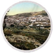 Holyland - Nazareth Round Beach Towel by Munir Alawi