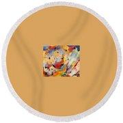 Homage A Kandinsky Round Beach Towel by Bernard Goodman