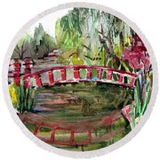 Homage To Monet Round Beach Towel by Mindy Newman