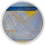 Homage To Richard Diebenkorn's Ocean Park Series  Round Beach Towel
