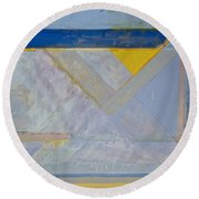Homage To Richard Diebenkorn's Ocean Park Series  Round Beach Towel