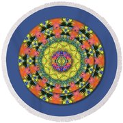 Homage To The Sun Round Beach Towel