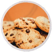 Home Baked Chocolate Biscuits Round Beach Towel