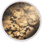 Home Biscuit Baking Round Beach Towel