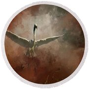 Round Beach Towel featuring the photograph Home Coming by Marvin Spates