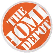 Home Depot T-shirt Round Beach Towel by Herb Strobino