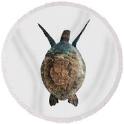 Home I - Turtle  Round Beach Towel