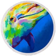 Home Is Ocean Round Beach Towel by Stephen Anderson