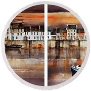 Home Of The Hookers, Galway Citie Round Beach Towel