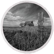 Round Beach Towel featuring the photograph Home On The Range  by Aaron J Groen