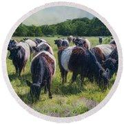 Round Beach Towel featuring the photograph Milk And Cookies by Robin-Lee Vieira