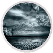 Home Round Beach Towel by Jacky Gerritsen