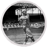 Home Run Babe Ruth Round Beach Towel