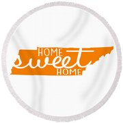 Round Beach Towel featuring the digital art Home Sweet Home Tennessee by Heather Applegate