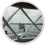 Home To Rockland Round Beach Towel