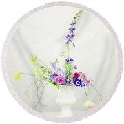 Homegrown Floral Bouquet Round Beach Towel