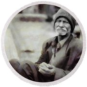 Homeless II Round Beach Towel by Gun Legler
