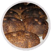Homemade Lithuanian Rye Bread Round Beach Towel by Ausra Huntington nee Paulauskaite
