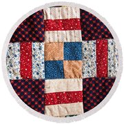 Homemade Quilt Round Beach Towel