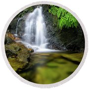 Homesite Falls Autumn Serenity Round Beach Towel