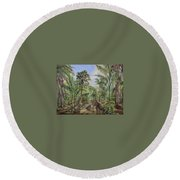 Homestead Tree Farm Round Beach Towel
