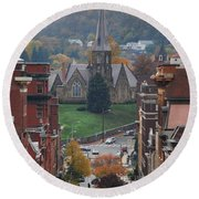 Round Beach Towel featuring the photograph My Hometown Cumberland, Maryland by Eric Liller