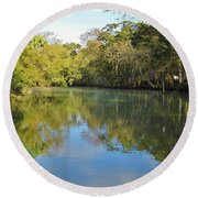 Homosassa River Round Beach Towel
