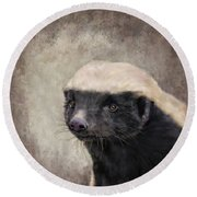 Honey Badger Round Beach Towel