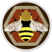 Honey Bee Graphic Round Beach Towel