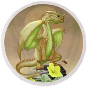 Honey Dew Dragon Round Beach Towel by Stanley Morrison