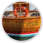Honey Fitz Round Beach Towel