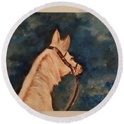 Honey Palomino Horse 28 Round Beach Towel
