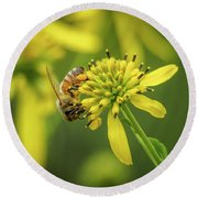 Honeybee 21 Round Beach Towel