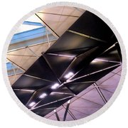 Round Beach Towel featuring the photograph Hong Kong Airport by Randall Weidner